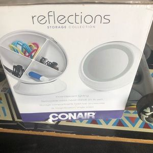 conair Bath - Conair reflections 3x magnifying mirror with light
